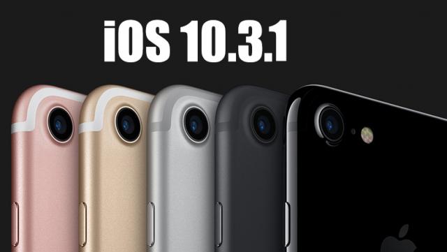 iOS 10.3.1'e geri dönme