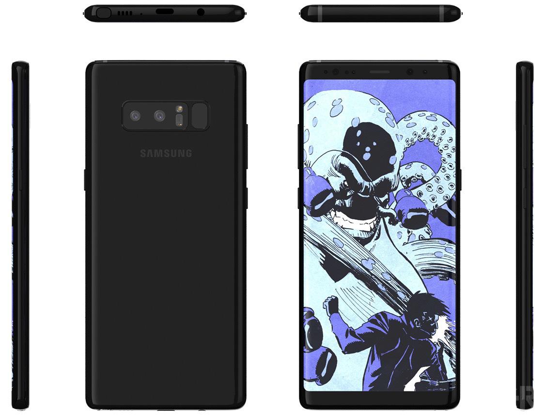 Galaxy Note 8'i yerine şimdi bu çarpıcı Note 9 renderını gördük