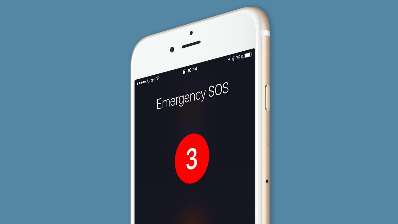iPhone acil durum çağrısı