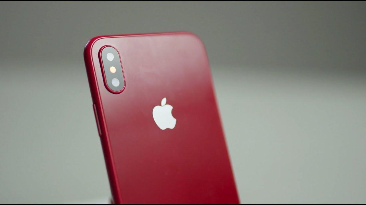 kırmızı iPhone X