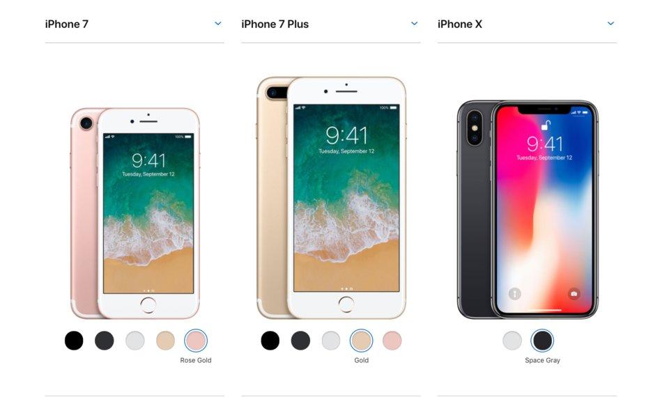 iPhone 7 Renk seçeneği