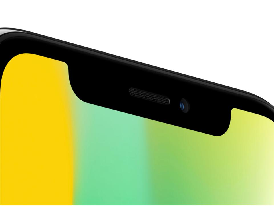 iPhone X ekran çentiği