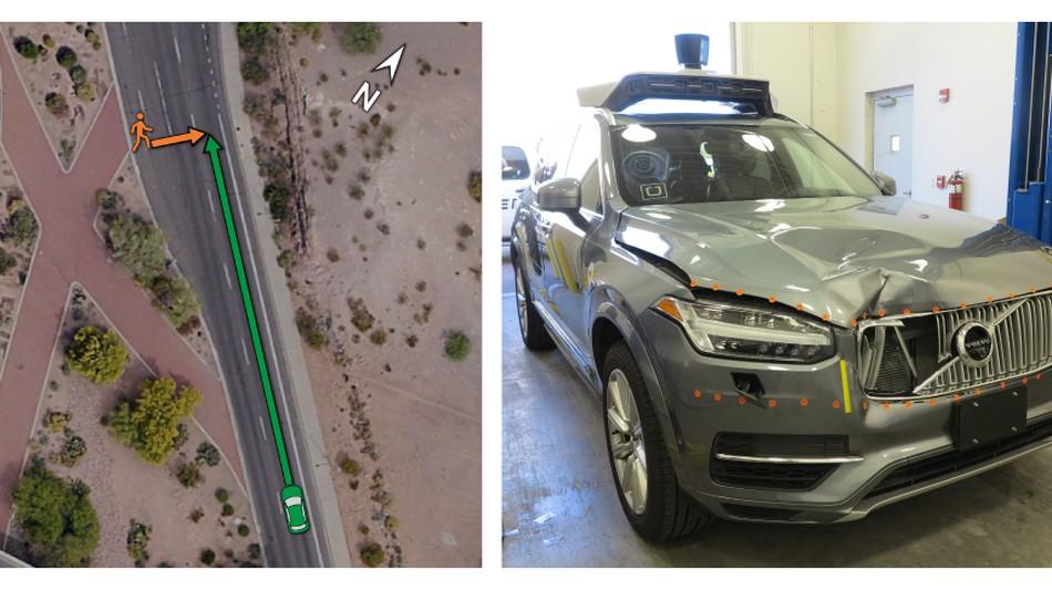 Uber sürücüsüz otomobil kazası