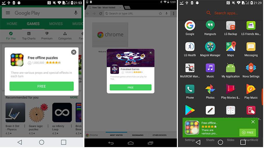 Android reklam virüsü