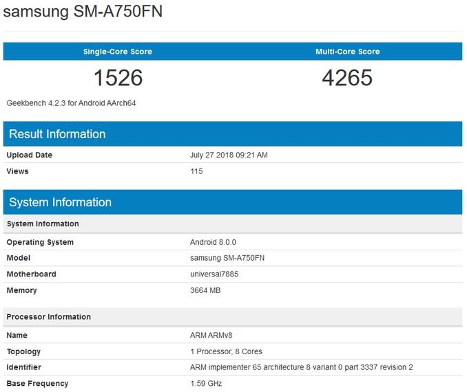 SM-A750FN Samsung A7 2018