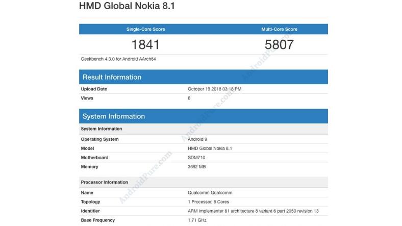 Nokia 8.1 Test