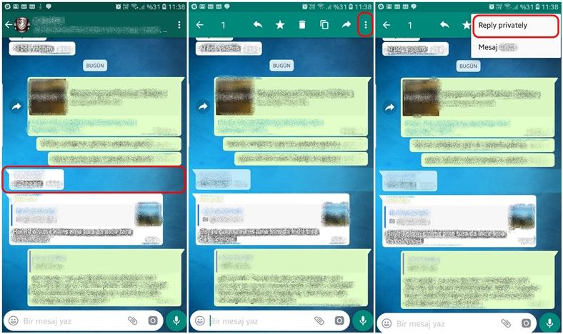 WhatsApp Özel yanıtlama