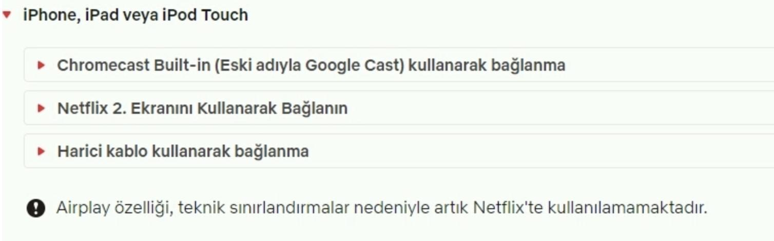 Apple Netflix sorunu