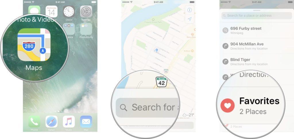Apple Harita Konum Kaydetme